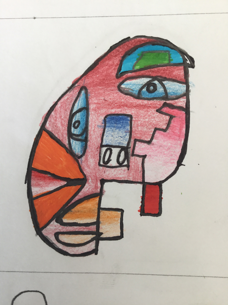 Y8 have been enjoying their extended project on africa and designed some brilliant masks based on the artist kimmy cantrell